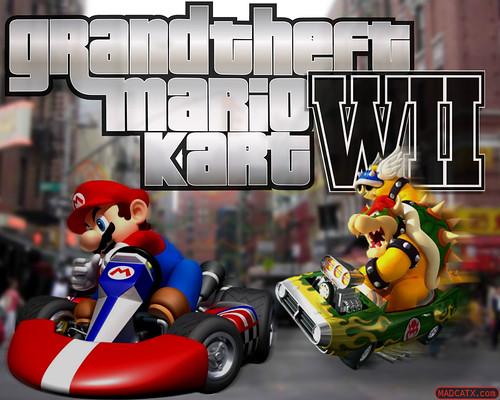 Grand Theft Mario Kart WII