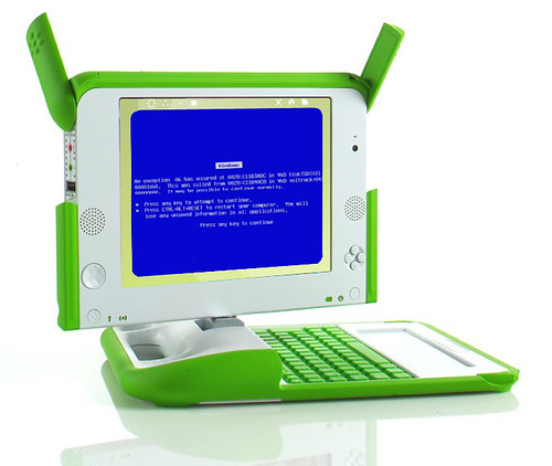 olpc's blue screen of death