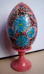 wooden decorative egg (katunchik) Tags: wood art painting wooden folk decorative painted sony egg dsc h9 декоративное