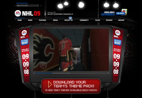 EA SPORTS : NHL 09 : Home