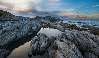 Lighthouse and rock pools