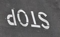 Stop...Vale anche al contrario? (Stefano Mazzoni) Tags: roma strada stop divieto fermo obbligo