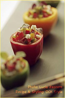 Bites - Mini Bell Peppers stuffed with Goat Cheese