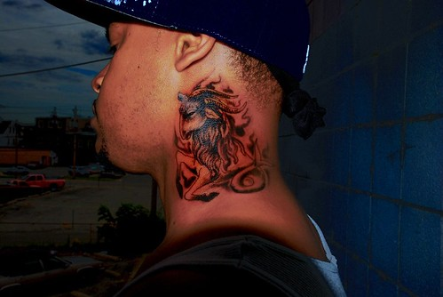 Neck Tattoo done by Joe at Asgard Ink tattoo studio by theeric11711