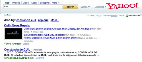 Yahoo News in Search Results