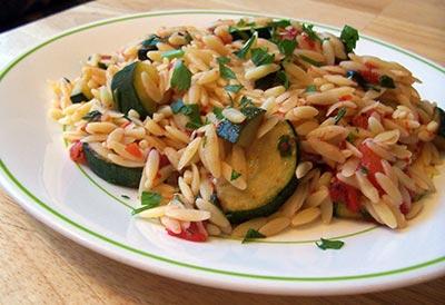 Zucchini and Tomato Orzo