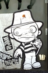 nightmare on elm strasse (bazkeogh) Tags: white streetart b
