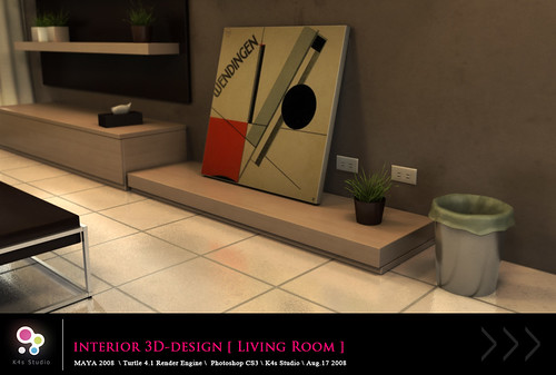 Interior 3D-Design [ Living Room ]  View_03