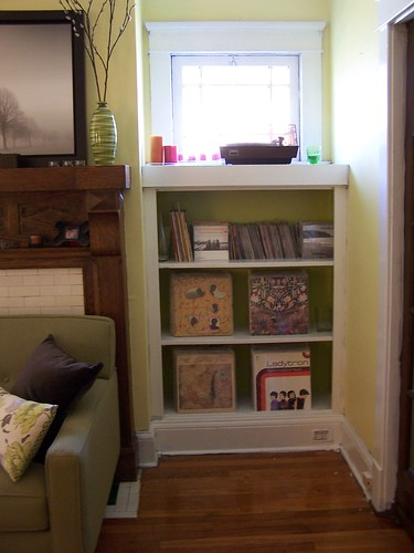 Newly painted book case