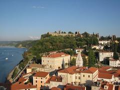 Razgled z zvonika na obzidje (Lion29) Tags: piran obzidje starabolnica