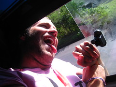 Aussie Actor Andrew sticks his head out the window