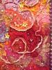 Detail Terre de Feu 1 (Karen Cattoire) Tags: original abstract art texture collage colorful handmade originalart creation fabric fiberart beading fibers textileart tissu abstrait textiledart karencattoire fibretextile arttexilte