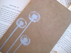 Dandelions - Large Moleskine Notebook (boundto) Tags: moleskine silver notebook book handmade journal dandelion etsy kraft cahier