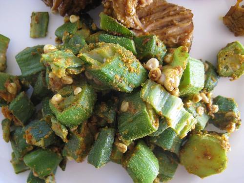 spiced okra | Food on the Brain