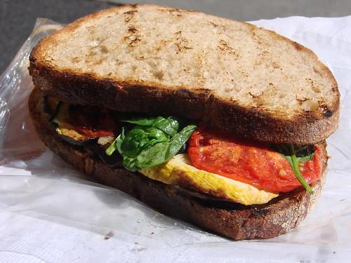 Farmers Market Grilled Veggie Sandwich