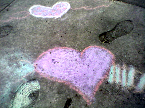 Chalk Hearts (Click to enlarge)