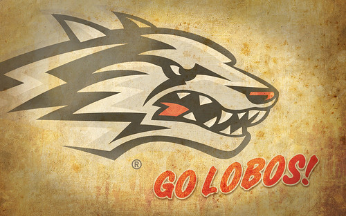 UNM Desktop Wallpapers: Retro Go Lobos!