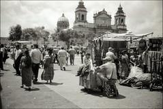 (Rai 幻の光) Tags: street camera white black art film church 35mm canon cathedral centralpark catedral rangefinder 100 canonet ql17 giii chs centralamerica vendors parquecentral centroamerica guatemalacity adox ciudaddeguatemala