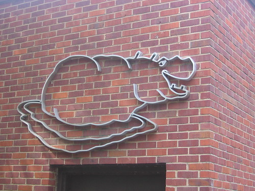Wall Sculpture at Hippo House