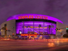 Staples Center (Menetnasht) Tags: california leica light sports night speed lumix la los concert stream long exposure downtown slow purple angeles stadium landmark center panasonic arena explore southern convention shutter venue lakers staples hdr picnik fz50 photomatix platinumheartaward theperfectphotographer top20la