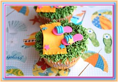 Flip Flop Cupcake (~Trs Chic Cupcakes by ShamsD~) Tags: beach by stars fun cupcakes colours candy chocolate african south towel explore flipflops tres vanilla chic proudly buttercream mouselline designercupcakes shamsd shamimadesai madeinsouthafrica cupcakesinsouthafrica cupcakesfromsouthafrica cupcakesinpietermaritzburg weddingcupcakesinsouthafrica weddingcupcakesinpietermaritzburg