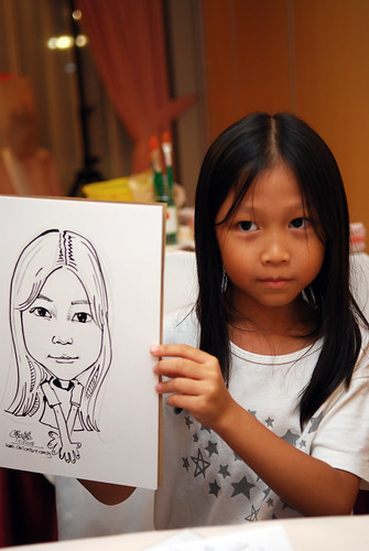 Caricature live sketching for birthday party 6