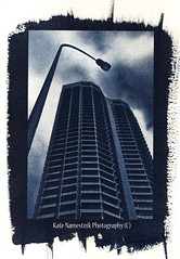 QV1 Cyanotype (photo kate) Tags: architecture bleach australia perth cyanotype qv1 altprocess blaxe atlprocessmbuildings
