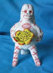 skeleton whistle Mexico (Teyacapan) Tags: flower dayofthedead mexico ceramics crafts artesanias clay pottery skeletons michoacan picnik calavera purepecha ocumicho