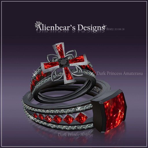 Dark Abioye and Amaterasu Rings