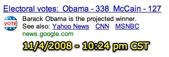 Obama is the projected winner