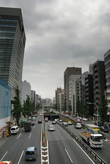 0630-P03-Tokyo View2 (SpirosK photography) Tags: street sky panorama cars japan clouds tokyo skyscrapers traffic stitched