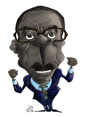Robert Mugabe by Tamer Youssef (Tamer Youssef) Tags: portrait art robert by pencil sketch egypt caricature zimbabwe mugabe catoon  youssef tamer