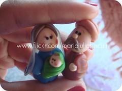 Jos, Maria e Jesus (Alane  maria julia biscuit) Tags: natal artesanato biscuit miniatura prespio porcelana handamde porcelanafria feitoamao