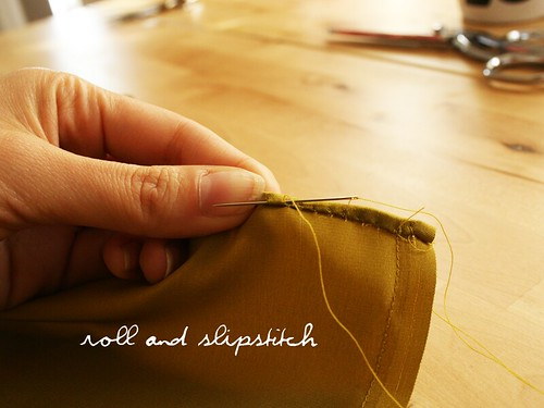 roll and slipstitch