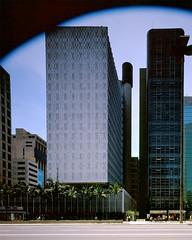 Edifcio Banco SulAmericano, So Paulo, SP (Pedro Kok) Tags: brazil arquitetura brasil architecture arquitectura kodak sopaulo 4x5 ektachrome e100vs cambo 75mm architecturalphotography scii nikkorsw fotografiadearquitetura fotografiadearquitectura