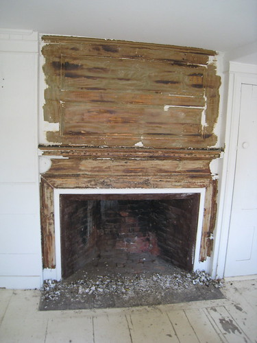 Mantel stripped