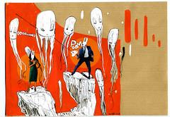 ALI (mc1984) Tags: orange rabbit stickers letter monsters parodie lapin aleister reused méduse posca poom flingue lapine amerloque aleister236