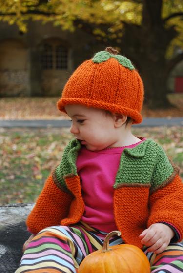 Viv's Pumpkin Hat and Sweater