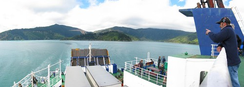 On the Blueridge Ferry from Welington to Picton, New Zealand