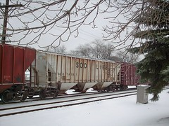 Eastbound Canadian National transfer train. North Riverside Illinois. December 2007.