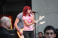 Hayley Williams (eveeee) Tags: show november red hot canon hair movie lost eos rebel intense concert twilight williams singing kodak center highland hollywood 18 topic hayley xsi paramore cullens