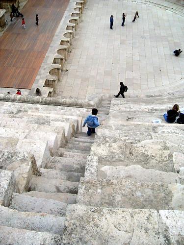 A kid at Roman Theatre, Amman, Jordan