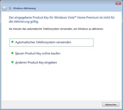 Windows Aktivierung
