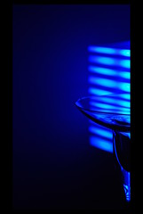 The blue collection: Crystal blue (Ginko Triloba) Tags: blue light distortion reflection ikea glass lamp nikon rogaka