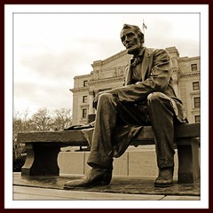 """Come, Sit, Tell Me About America...""   (#1 of 2 - a set) (Tony Fischer Photography) Tags: sculpture usa sepia america us newjersey essexcounty union nj civilwar lincoln newark slavery confederacy borglum"