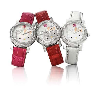 Hello Kitty Kimora Lee Simmons Diamond Watches