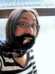 crochet beard and cigalette
