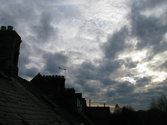 oxford, december 8 - 2:42 p.m. (venetia 27) Tags: sunset sky clouds december roofs oxford chimneys