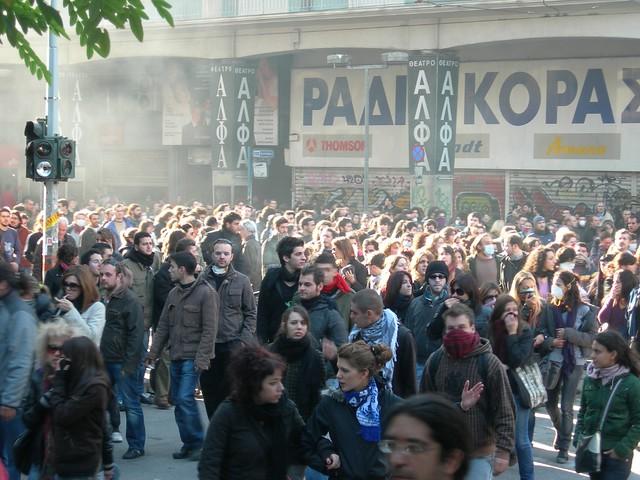 название: Демонстрации в Афинах, автор: endiaferon, источник: flickr.com