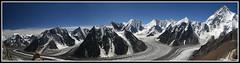 Panoramica desde el Campo 1 del Broad Peak (Aitor Las Hayas) Tags: pakistan mountain panoramica k2 alpinismo montaa karakorum broadpeak baltoro aplusphoto ishflickr